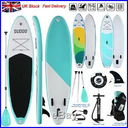 3Fins SUP Inflatable Surfing Board Soft Surf Stand Up Paddle Board 300X76X15 CM