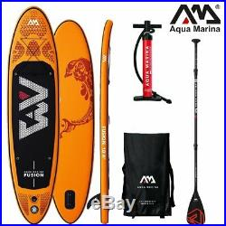 AQUA MARINA FUSION SUP inflatable Stand Up Paddle Surfboard Board Carbon Paddle