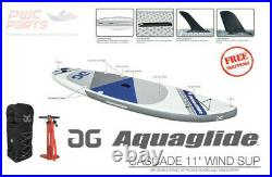AQUAGLIDE CASCADE i-SUP WIND SUP Package Pump Bag Fins Paddle Board 58-5418103