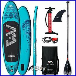 Aqua Marina Vapor SUP-Set Stand Up Paddle Inflatable Board ISUP Paddel Surf NEU