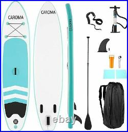 CAROMA 10FT Inflatable Paddle Board SUP Stand Up Paddleboard & Accessories