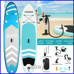 CAROMA 10FT Inflatable Stand Up Paddle SUP Board Surfing Surf Board Paddleboard
