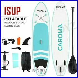 CAROMA 10FT Inflatable Stand Up Paddle SUP Board Surfing surf Board 305x71x10cm