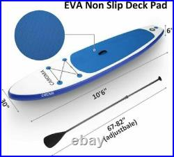 CAROMA 11FT Inflatable Stand Up Paddle SUP Board Surfing surf Board paddleboard