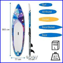 Capital Sports Maliko Runner Inflatable Paddle Board SUP Board Set Blue / Red