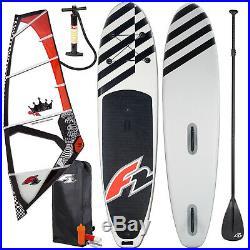 F2 Allround Windsurf Inflatable Sup Set 10,6 Komplett + F2 Rodeo Rigg 4,8 Qm