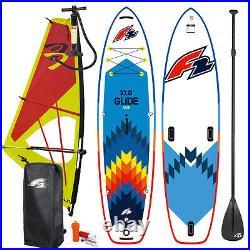 F2 Glide Windsurf Inflatable Sup Set 10,8 Komplett & Ascan Dacron Rigg 4,0 Qm