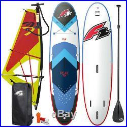 F2 Peak Windsurf Inflatable Sup Set 10,8 Komplett & Ascan Dacron Rigg 3,5 Qm