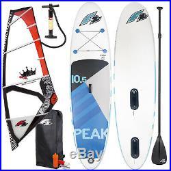 F2 Peak Windsurf Inflatable Sup Set 11,5 Komplett + F2 Rodeo Rigg 5,2 Qm