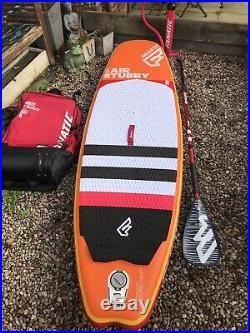 Fanatic Stubby Air Inflatable SUP Paddle Board 8'6 Inc, Bag, Pump, Fins & Paddle