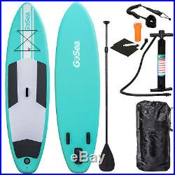 GoSea SUP 10ft Inflatable Stand Up Paddle Board + Pump + Paddle Bag 6 Thick