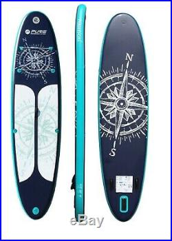 HIKS Pure SUP Board Inflatable 3.4m Navy Stand UP Paddle Board 11ft2