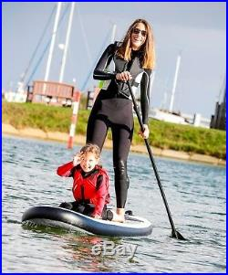 HIKS SUP Board Inflatable 3.2m Battleship Grey Stand UP Paddle Board 10ft6