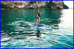 Hydro-Force Oceana Inflatable SUP Stand Up Paddle board Set Blue 10 ft