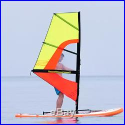 Inflatable 0.9mm PVC 10ft. SUP Sailboat Windsurfing Paddle Surf Board NEW
