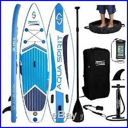 Inflatable 10'6 Paddle Board SUP Stand Up Paddleboard & Accessories 6 Thick