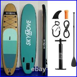 Inflatable Paddle Board NEW 2021 Wood Style Premium 10'6 SUP Free UK P&P