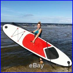 Inflatable Paddle Board SUP Stand Up Surfboard Set Pump Carry Bag Leash 10FT