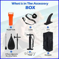 Inflatable Paddle Board SUP Surf Surfboard Stand Up Bag Pump Oar Water Racing UK