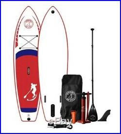 Inflatable Paddle Board Sandbanks Style Ultimate 10'6 I SUP Red