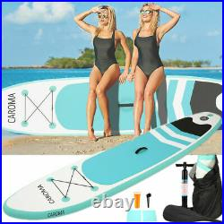 Inflatable Paddle Board Sports 10ft SUP Surf Stand Up Water Float Bag Pump Oar