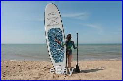 Inflatable SUP Paddle Board 10ft Stand Up Paddleboard Kayak 4 Thick Hydro Force