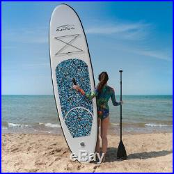 Inflatable SUP Paddle Board 10ft Stand Up Paddleboard Kayak 6 Thick