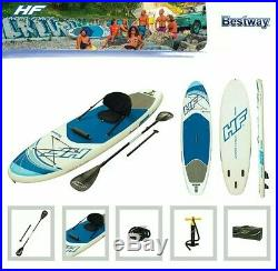 Inflatable SUP Paddle Board 10ft Stand Up Paddleboard Kayak 6 Thick Hydro Force