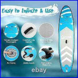 Inflatable Stand Up Paddle Board Kit, 10 SUP Board, Adjustable Paddle Kayak UK
