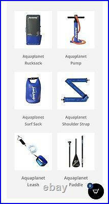 Inflatable Stand Up Paddle Board Kit 6 Thick 106 Long AQUAPLANET