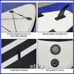 Inflatable Stand Up Paddle Board Paddleboard Surfboard SUP Surf Board Kayak 10'6