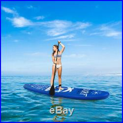 Inflatable Stand Up Paddle Board Surfboard Surfing ISUP Water PVC 297x76x15CM