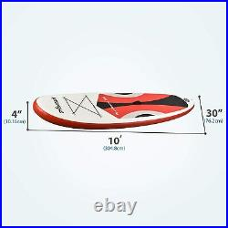 Inflatable Sup 11'30x6 All Around Paddle Board, With Full Accessories, Orange