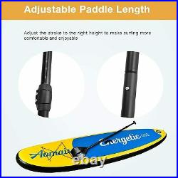 Inflatable Sup 11'30x6 All Around Paddle Board, With Full Accessories, Yellow
