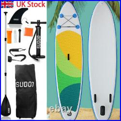 Inflatable Sup Paddle Board Aquago Stand Up Complete Set Pump + Bag 10ft