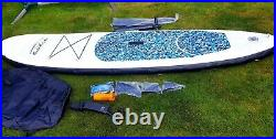 Inflatable sup stand up paddle board BLUE double layer 10ft