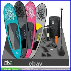 Moana 10FT Inflatable Stand Up Paddle Surf Board Kayak 308x76x10cm +Accessories