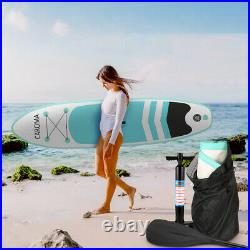 NEW 10FT Inflatable Stand Up Paddle SUP Board Surfing Board paddleboard 305cm UK