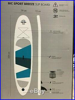 NEW BIC Breeze Inflatable SUP Package Board + Paddle + Pump + Fin + Backpack