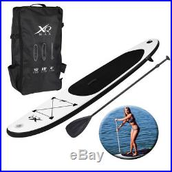 Paddle Board 10ft Black Sports Surf Inflatable Stand Up Water Racing SUP Pump