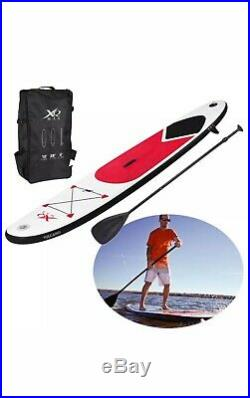 Paddle Board 10ft Red Sports Surf Inflatable Stand Up Water Racing SUP Bag Pump