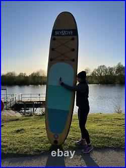 Paddle Board Inflatable SUP 10ft 6 Luxury 2021 Wood Resin Design RRP £699