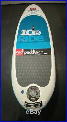 Red Paddle Co Ride 10'6 Inflatable SUP Stand Up Paddle Board package VGC