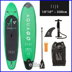 STAND UP PADDLE BOARD 10'10 AQUAGO FIJI INFLATABLE WITH PUMP & ACCESSORIES Wido