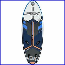 STX inflatable Windsurf SUP Board mit Fußschlaufen, Centerfinne und harten Rails
