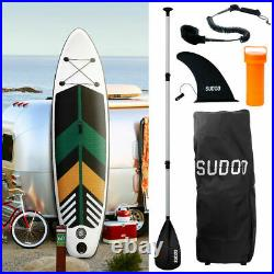 SUDOO 10ft Stand Up Paddle Board SUP Inflatable Paddleboard Kayak Summer
