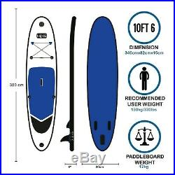 SUP Board Inflatable 3.2m HIKS Navy Stand Up Paddle Board Set