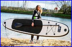 SUP Board Inflatable 3m Stand Up Paddle Board Black SUP Set HIKS 10ft