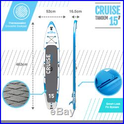 SUP Inflatable Stand Up Paddleboard Bluefin All inclusive Package 15' Tandem SUP