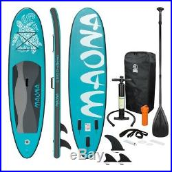 SUP stand up paddle board 10ft inflatable Maona surfboard paddleboard turquoise